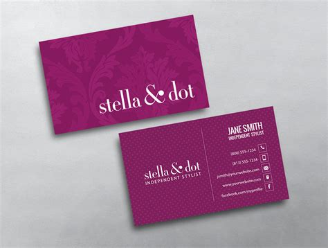 stella and dot business card template stella dot business card 08