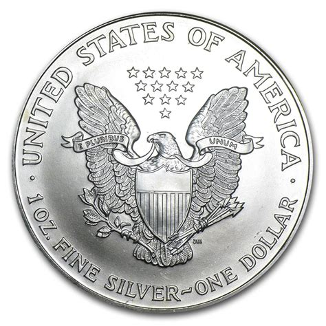 1 Oz Silver Coin 1999 by 1999 American Silver Eagle 1oz Coin From U S Mint Bu