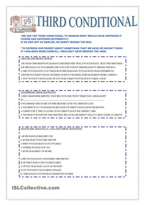 lesson plan for teaching conditional sentences third conditional esl 2 third
