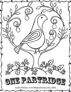 twelve days of christmas coloring pages