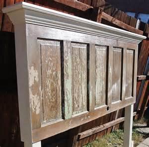 hometalk 90 year door made into a king size headboard