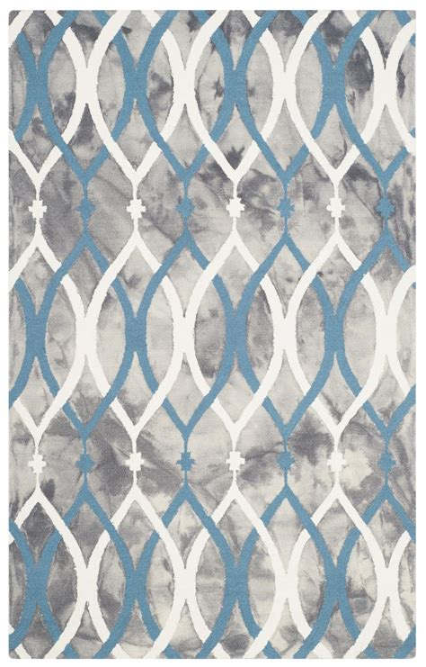 Blue And Grey Area Rugs Safavieh Dip Dyed Ddy534j Grey And Ivory Blue Area Rug