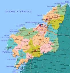 La Coruna Spain Map by La Coruna Map
