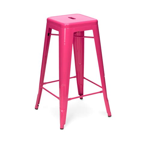 Pink Stool Chair by Pink Tolix Stool 65cm 75cm