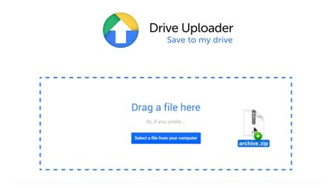 Drive Upload | allow anyone to upload large files to your google drive