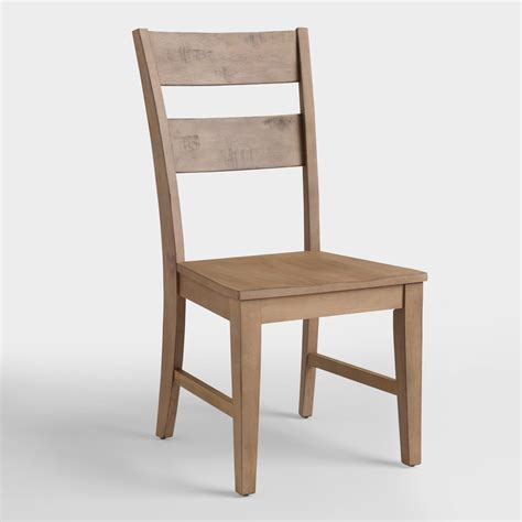 Distressed Wood Dining Chairs Distressed Wood Harrow Dining Chairs Set Of 2 World Market