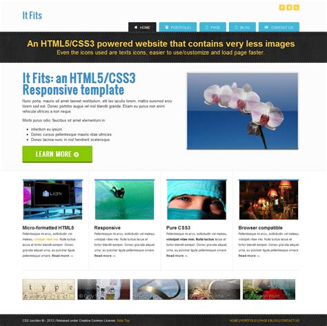html5 sle template html5 templates free with css http