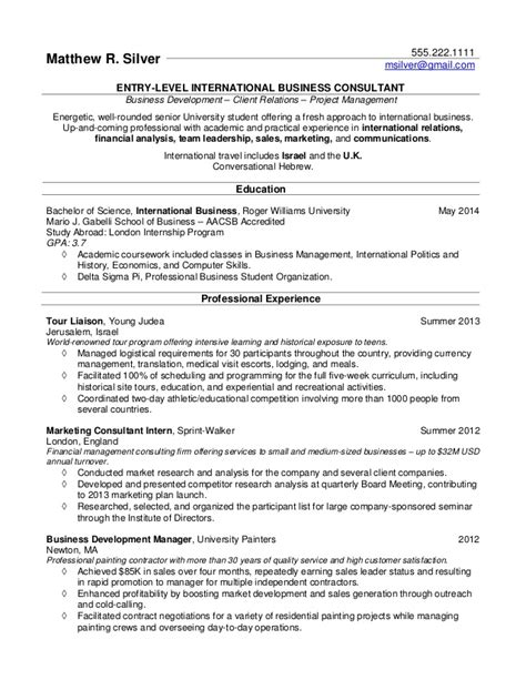 Sle College Student Resume For Summer Resume Sles For College Students And Recent Grads
