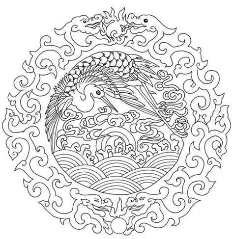 chinese mandala coloring pages chinese a lovely embroidery it would make art