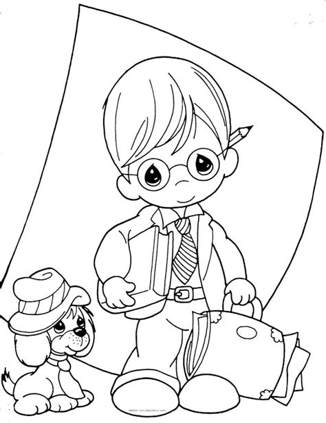 Precious Moments Coloring Pages Love Az Coloring Pages Precious Moments Boy Coloring Page Free