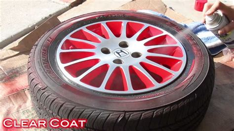 spray paint rims white easy way to customize wheels with spray paint 2 tone