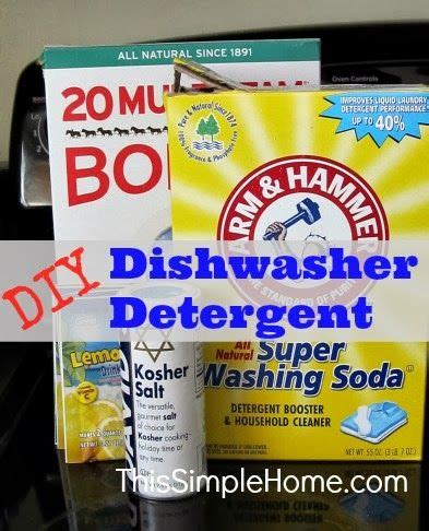Dishwasher Detergent Recipe 1000 Images About Cleaning On