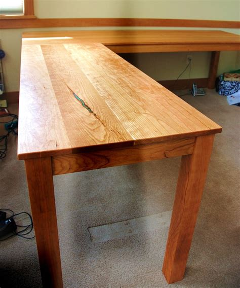 solid l shaped desk solid cherry quot flatiron quot l shape desk boulder furniture arts