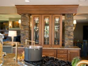 Kitchen Cabinets Display by Built In Stone China Cabinet Hgtv
