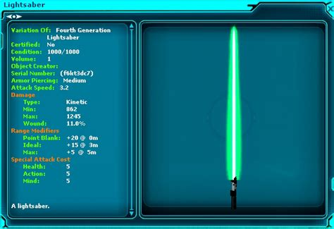 Swg Jedi Template by 4th Generation Light Saber 2 Magi S Swg Fansite