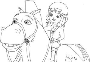free sofia the first coloring pages