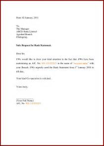 request letter format in bank