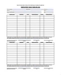 work sign in and out sheet template sle employee sign in sheet 9 free documents