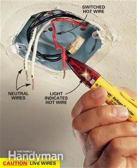 Ceiling Light Installation Wiring How To Hang A Ceiling Light Fixture The Family Handyman