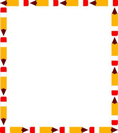 pattern writing frame school clip art borders of a blank pencil frame