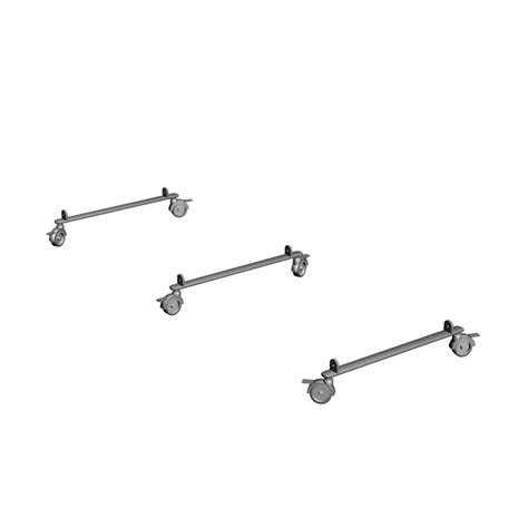 expedit set of casters silver color design and decorate your room in 3d