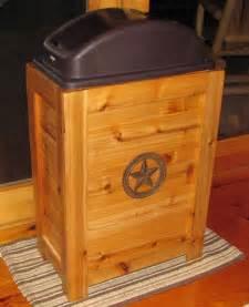 wooden trash bins for kitchen new rustic wood kitchen trash bin garbage can 30 gal cabin