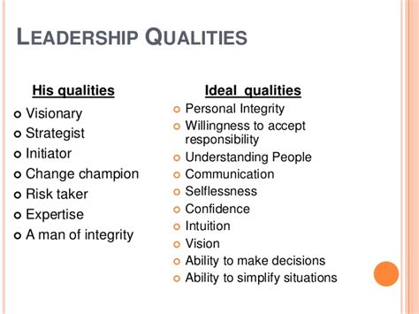 The Qualities Of A Leader Essay by 7 Common Characteristics Of Great Leaders