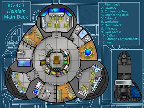 spaceship floor plan deck plans atomic rockets
