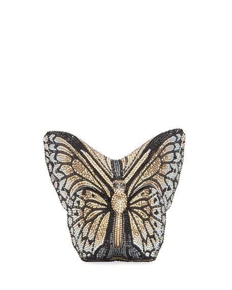 Butterfly Clutch judith leiber couture monarch studded butterfly