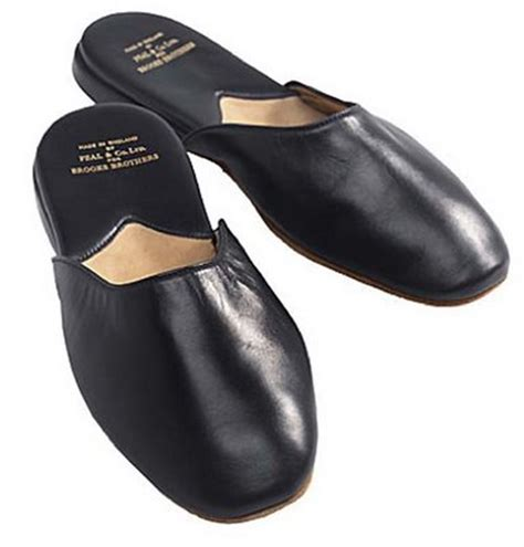 s leather slippers