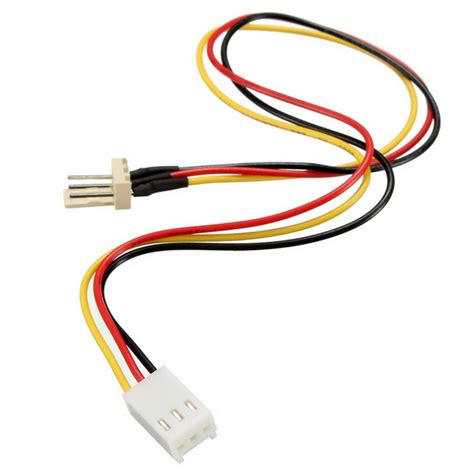 3 pin fan extension cable 3 pins built in fan extension cord power adapter cable