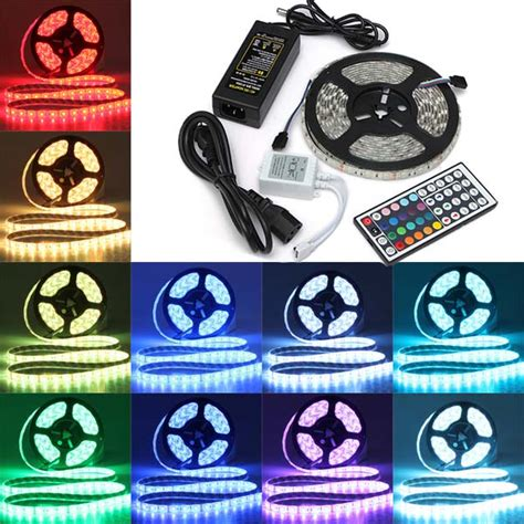 Flasher Kontroler Led 5050 5m smd 5050 rgb waterproof 300 led light 44 key