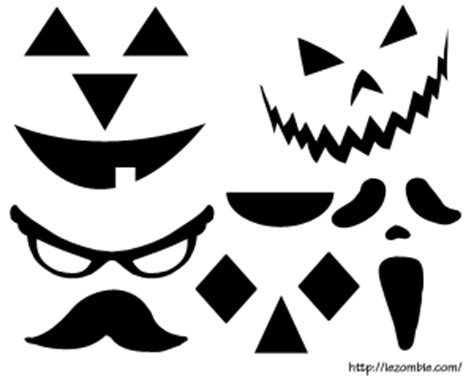 printable pumpkin eyes and mouth jack o lantern cut out craft printable free