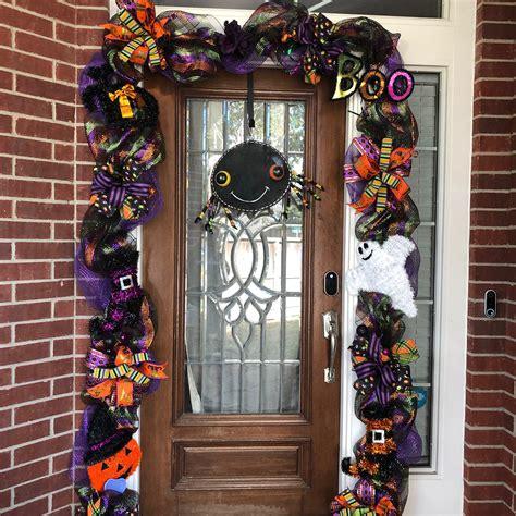 halloween garland  lights halloween front door decor