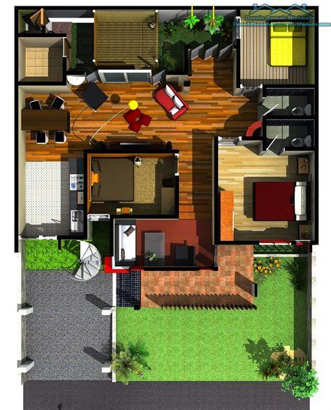 desain rumah minimalis 2 lantai 3 kamar tidur gambar foto desain rumah