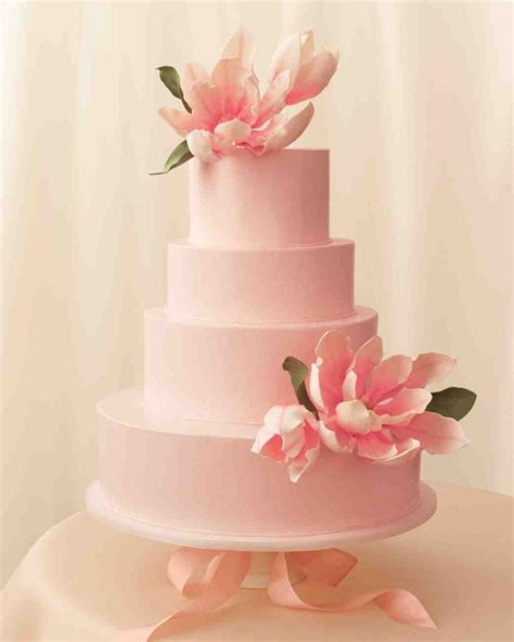 Pink Flower Wedding Cake by Floral Wedding Cakes A Wedding Cake
