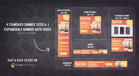 Bestsale Html5 Promotional Banner Template Html5 Banner Template