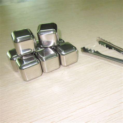 Promo 8pcs Reusable Stainless Steel Cube 8pcs Es Batu 8pcs Stainless Steel Reusable Cubes Drink Chillers
