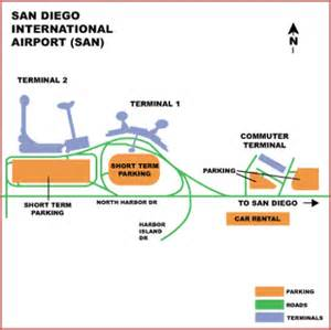 San Diego Airport Map by Airguide Airports San Diego International