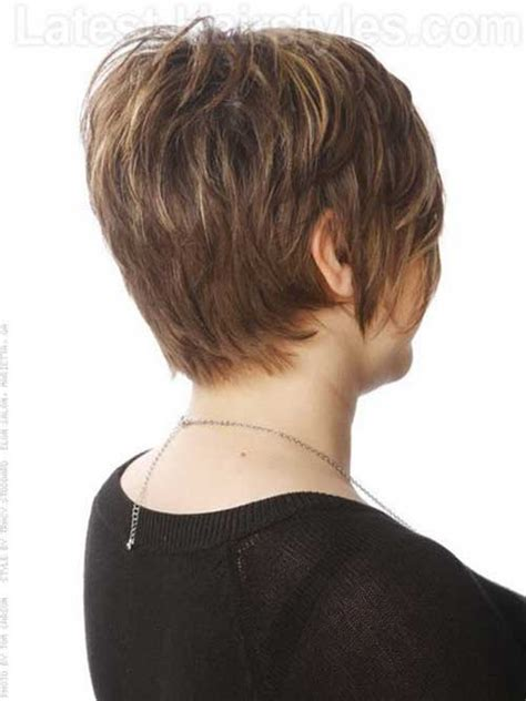 photos of the back of a haircut with a w neckline 10 back of pixie cut short hairstyles 2017 2018 most
