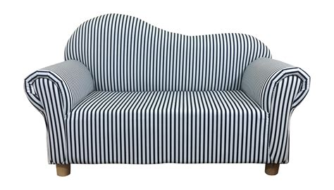 white navy striped seat sofa