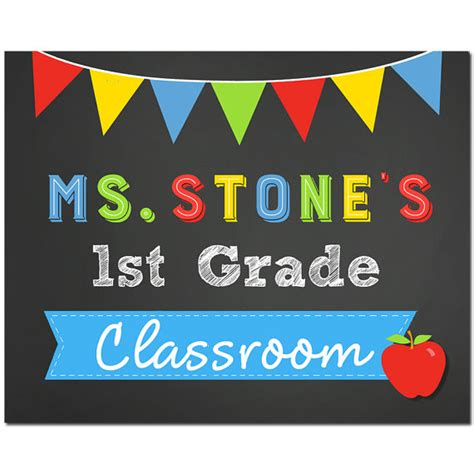 classroom door signs templates personalized classroom door sign yard sign printable