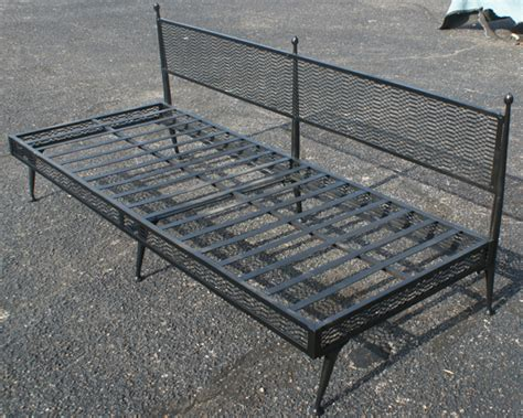 Wrought Iron Futon by Midcentury Retro Style Modern Architectural Vintage