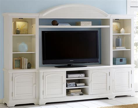white house wall summer house oyster white entertainment wall unit 607 entw ecp liberty