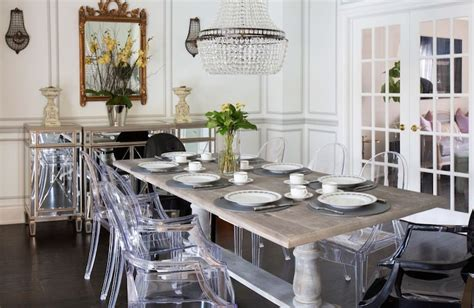 acrylic dining chairs eclectic dining room flax design