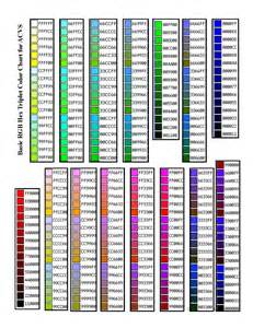 color hex numbers rgba color code chart