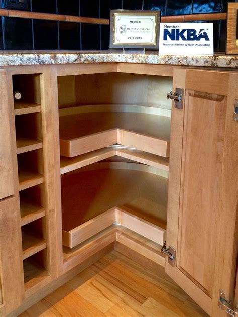 Kitchen Cabinet Storage Systems The 25 Best Corner Cabinet Kitchen Ideas On Corner Drawers Lazy Susan Corner