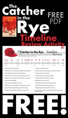 the catcher in the rye themes pdf catcher in the rye free timeline review worksheet for j d