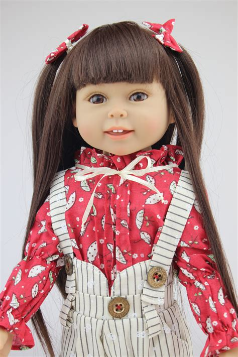 Where Can I Buy An American Girl Gift Card - 18 inch vinyl american girl dolls for sale brown long hair cute girl reborn handmad