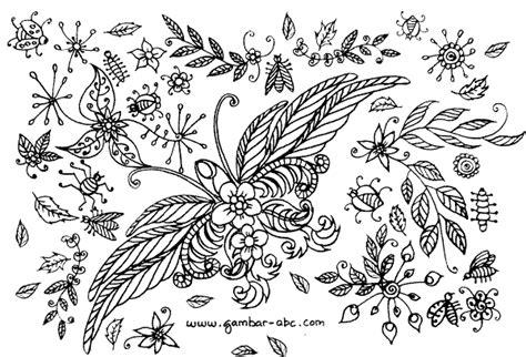 kupu kupu motif bunga untuk dewasa belajar mewarnai